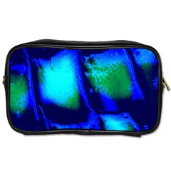 Blue Scales Pattern Background Toiletries Bags