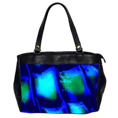 Blue Scales Pattern Background Office Handbags (2 Sides)