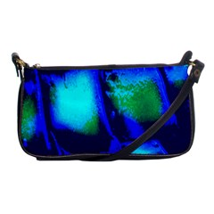Blue Scales Pattern Background Shoulder Clutch Bags