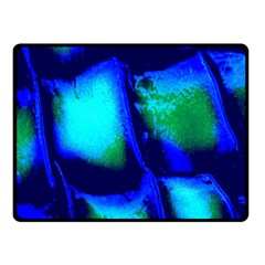 Blue Scales Pattern Background Fleece Blanket (small)