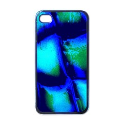 Blue Scales Pattern Background Apple Iphone 4 Case (black)