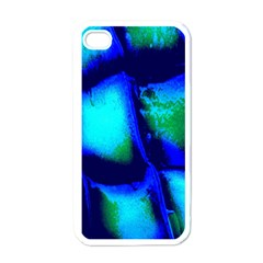 Blue Scales Pattern Background Apple Iphone 4 Case (white)