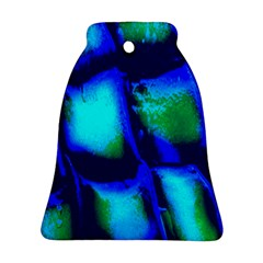 Blue Scales Pattern Background Bell Ornament (two Sides)