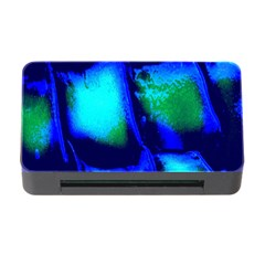 Blue Scales Pattern Background Memory Card Reader with CF
