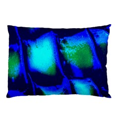 Blue Scales Pattern Background Pillow Case (two Sides)