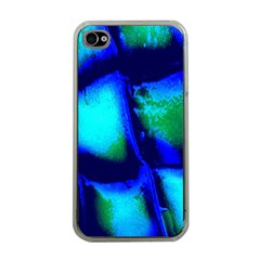 Blue Scales Pattern Background Apple iPhone 4 Case (Clear)