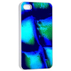 Blue Scales Pattern Background Apple Iphone 4/4s Seamless Case (white)