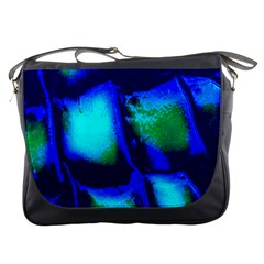 Blue Scales Pattern Background Messenger Bags