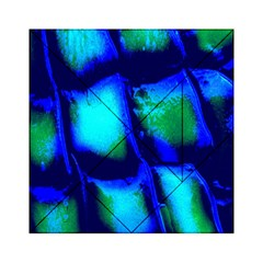 Blue Scales Pattern Background Acrylic Tangram Puzzle (6  x 6 )