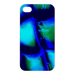 Blue Scales Pattern Background Apple Iphone 4/4s Premium Hardshell Case