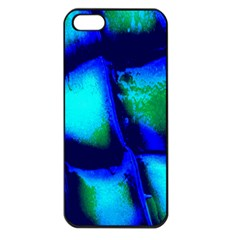 Blue Scales Pattern Background Apple Iphone 5 Seamless Case (black)