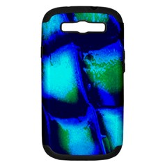 Blue Scales Pattern Background Samsung Galaxy S Iii Hardshell Case (pc+silicone)