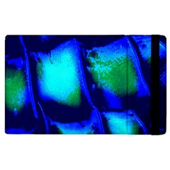 Blue Scales Pattern Background Apple iPad 3/4 Flip Case
