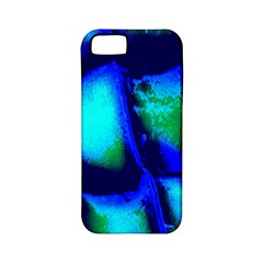 Blue Scales Pattern Background Apple iPhone 5 Classic Hardshell Case (PC+Silicone)