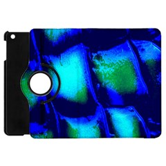 Blue Scales Pattern Background Apple Ipad Mini Flip 360 Case