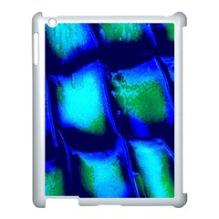 Blue Scales Pattern Background Apple Ipad 3/4 Case (white)