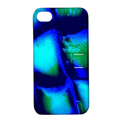 Blue Scales Pattern Background Apple Iphone 4/4s Hardshell Case With Stand