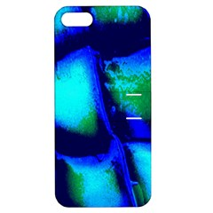 Blue Scales Pattern Background Apple Iphone 5 Hardshell Case With Stand