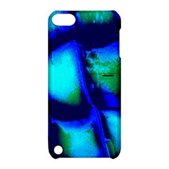 Blue Scales Pattern Background Apple Ipod Touch 5 Hardshell Case With Stand