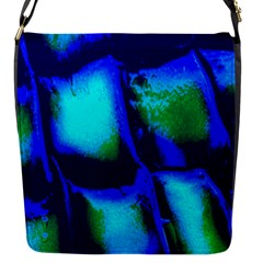 Blue Scales Pattern Background Flap Messenger Bag (S)