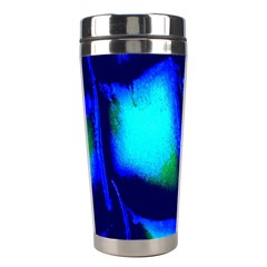 Blue Scales Pattern Background Stainless Steel Travel Tumblers