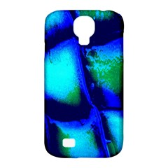Blue Scales Pattern Background Samsung Galaxy S4 Classic Hardshell Case (pc+silicone)
