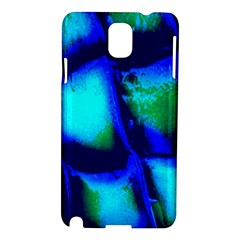Blue Scales Pattern Background Samsung Galaxy Note 3 N9005 Hardshell Case