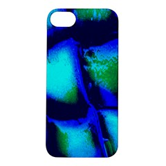 Blue Scales Pattern Background Apple iPhone 5S/ SE Hardshell Case