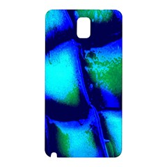 Blue Scales Pattern Background Samsung Galaxy Note 3 N9005 Hardshell Back Case