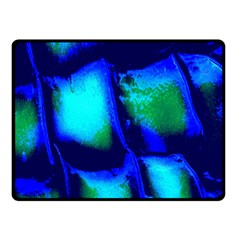 Blue Scales Pattern Background Double Sided Fleece Blanket (small)