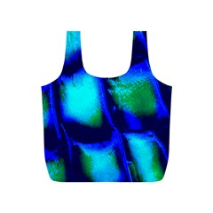 Blue Scales Pattern Background Full Print Recycle Bags (S)
