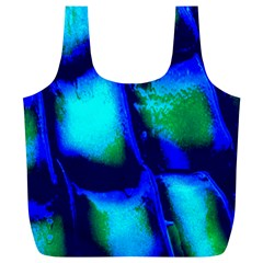 Blue Scales Pattern Background Full Print Recycle Bags (L)