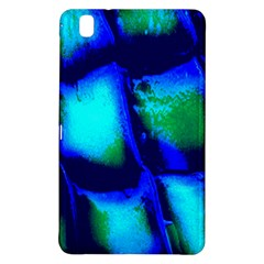 Blue Scales Pattern Background Samsung Galaxy Tab Pro 8.4 Hardshell Case