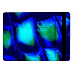 Blue Scales Pattern Background Samsung Galaxy Tab Pro 12 2  Flip Case
