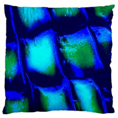 Blue Scales Pattern Background Large Flano Cushion Case (two Sides)