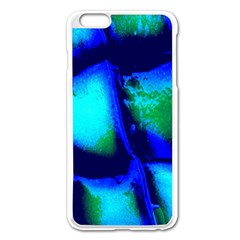 Blue Scales Pattern Background Apple Iphone 6 Plus/6s Plus Enamel White Case