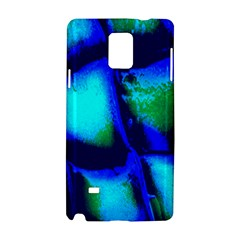 Blue Scales Pattern Background Samsung Galaxy Note 4 Hardshell Case