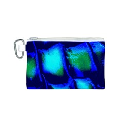 Blue Scales Pattern Background Canvas Cosmetic Bag (s)