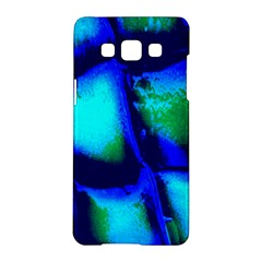 Blue Scales Pattern Background Samsung Galaxy A5 Hardshell Case