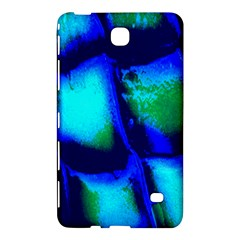 Blue Scales Pattern Background Samsung Galaxy Tab 4 (8 ) Hardshell Case