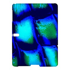 Blue Scales Pattern Background Samsung Galaxy Tab S (10.5 ) Hardshell Case