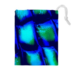 Blue Scales Pattern Background Drawstring Pouches (extra Large)