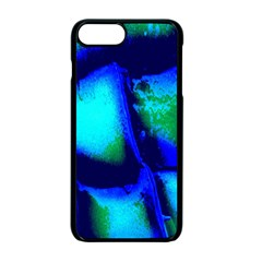 Blue Scales Pattern Background Apple Iphone 7 Plus Seamless Case (black)