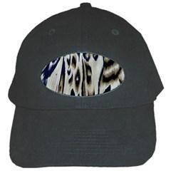 Tiger Background Fabric Animal Motifs Black Cap
