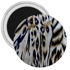 Tiger Background Fabric Animal Motifs 3  Magnets