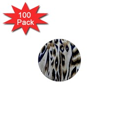 Tiger Background Fabric Animal Motifs 1  Mini Magnets (100 Pack)