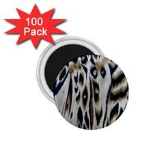 Tiger Background Fabric Animal Motifs 1 75  Magnets (100 Pack)