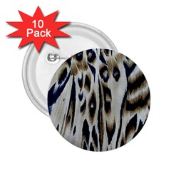 Tiger Background Fabric Animal Motifs 2 25  Buttons (10 Pack)