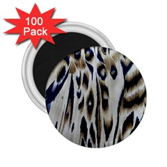 Tiger Background Fabric Animal Motifs 2 25  Magnets (100 Pack)