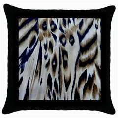 Tiger Background Fabric Animal Motifs Throw Pillow Case (black)